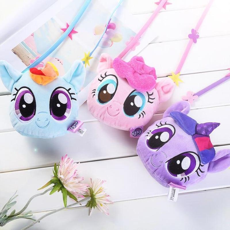 My Little Pony New Pony Bao Li Children's Purse Plush Backpack Cartoon Cute Doll Cross Body Bag Girl Toys·