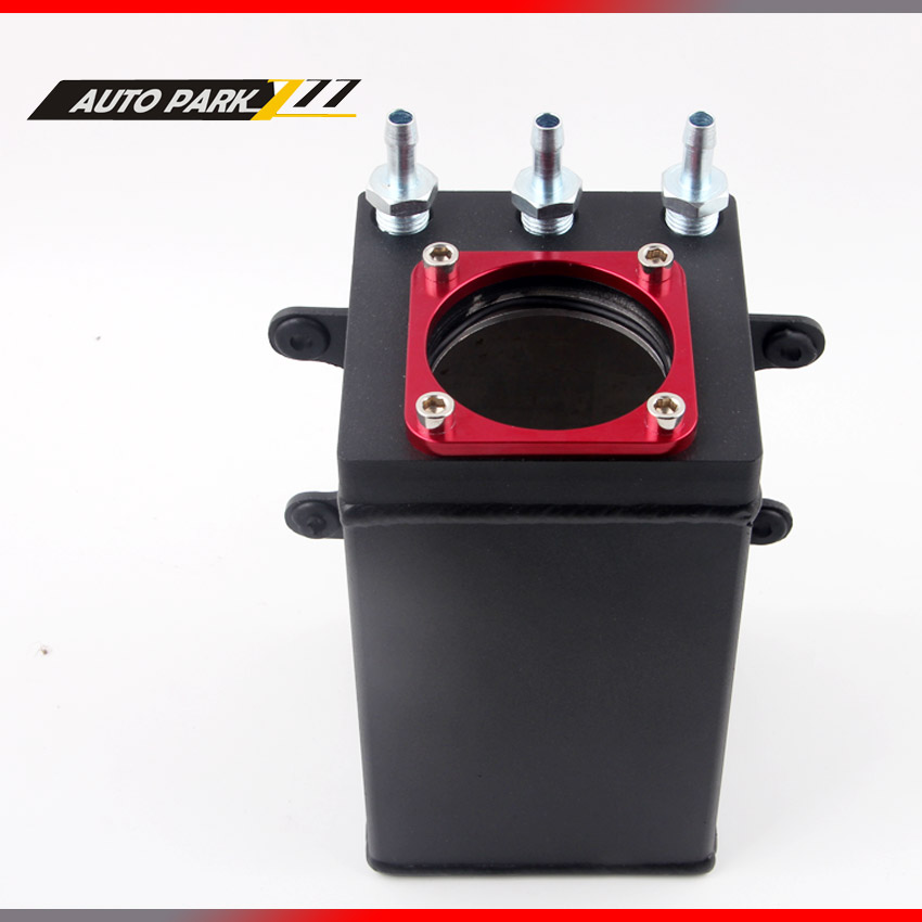 60mm external 044 fuel pump tank racing black Billet aluminium AN6 fitting oil catch can fuel surge tank in Fuel Tanks from Automobiles Motorcycles