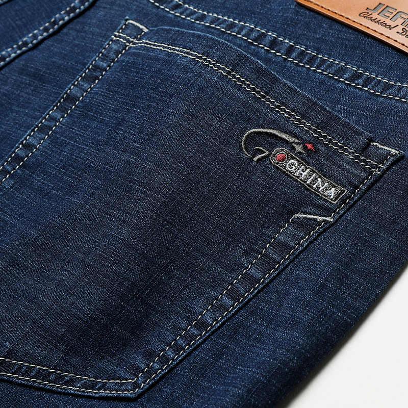 2019 Mới Nam Thu Đông Cotton Jeans Nam Co Giãn Kinh Doanh Quần Thời Trang Cổ Điển Quần Denim Quần Jean Nam Trơn quần Jean