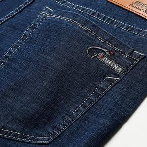 Image 5 - 2020 männer Herbst Winter Baumwolle Jeans Männer Stretch Business Hosen Mode Hosen Denim Jean Herren Jeans große größe 35 40 42 44 46