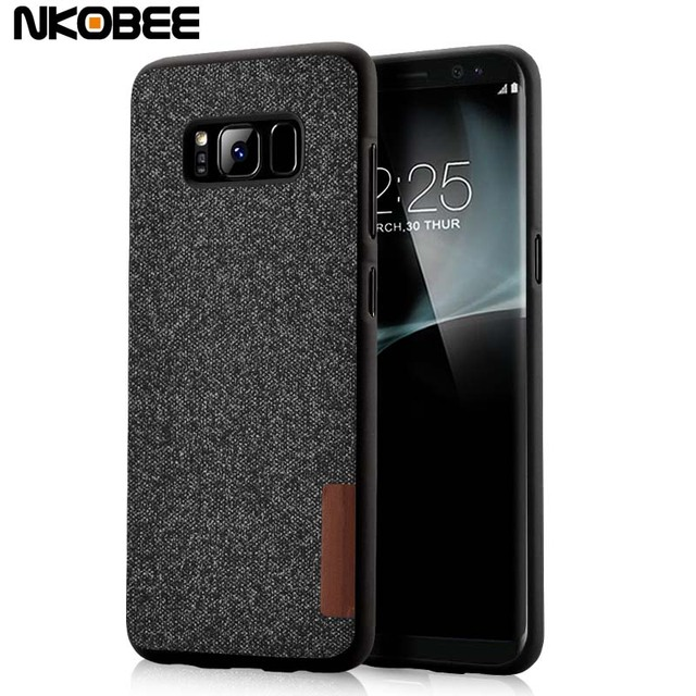 online store b8b94 f9331 US $4.74  NKOBEE For Samsung Galaxy S8 Plus Case Cover Original Cotton  Cloth Silicone For Galaxy S8 Case Luxury Slim TPU Cover Coque S8-in Fitted  ...