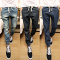 2017 Men's Joggers Collection Stylish Mid Waist Drawstring Mens Joggers Trousers Denim Slim Fit Long Men Harem Pants Retails Hot