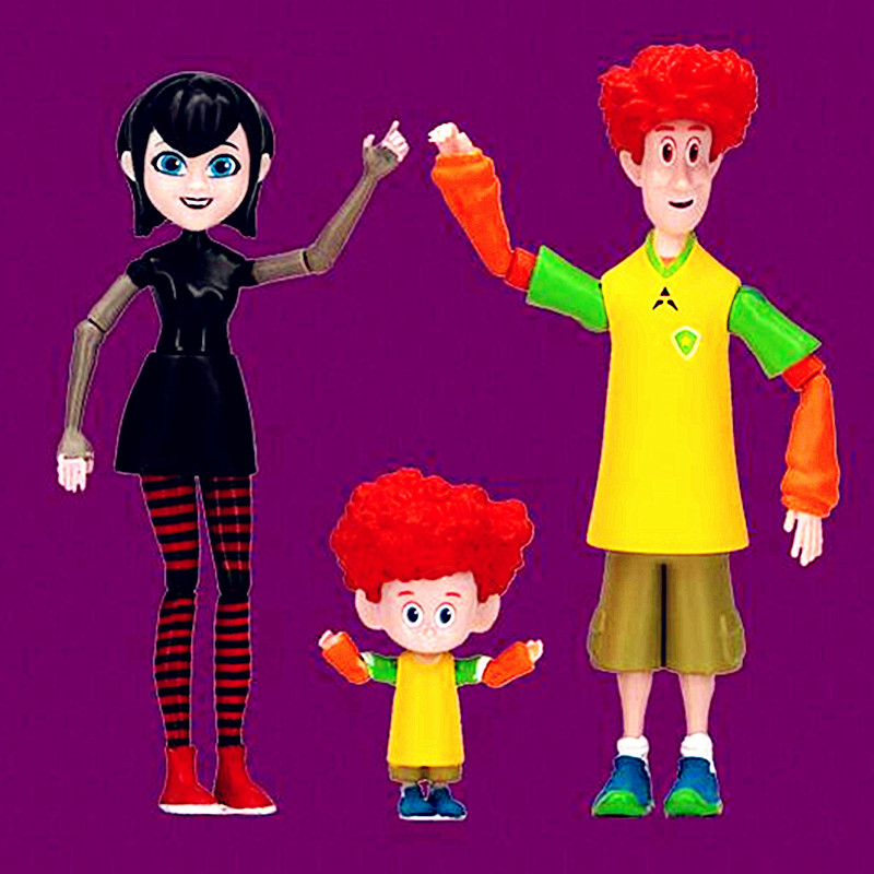 4pcs Set Hotel Transylvania 3 Dracula Mavis Johnny Genndy Tartakovsky Series PVC Action Figure Model Gifts Toys Brinquedos L2608 In Toy Figures
