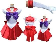 Сейлор мун марс косплей костюм + перчатки + NECHLACE