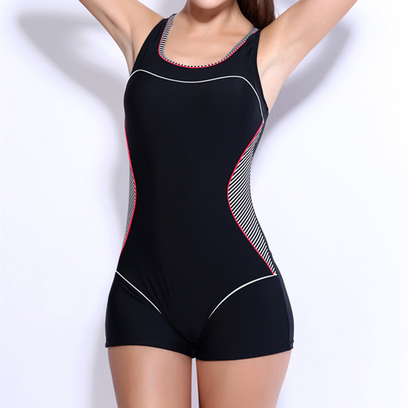 One Piece Swimsuit Sport Swimwear Women 2017 New Swimming