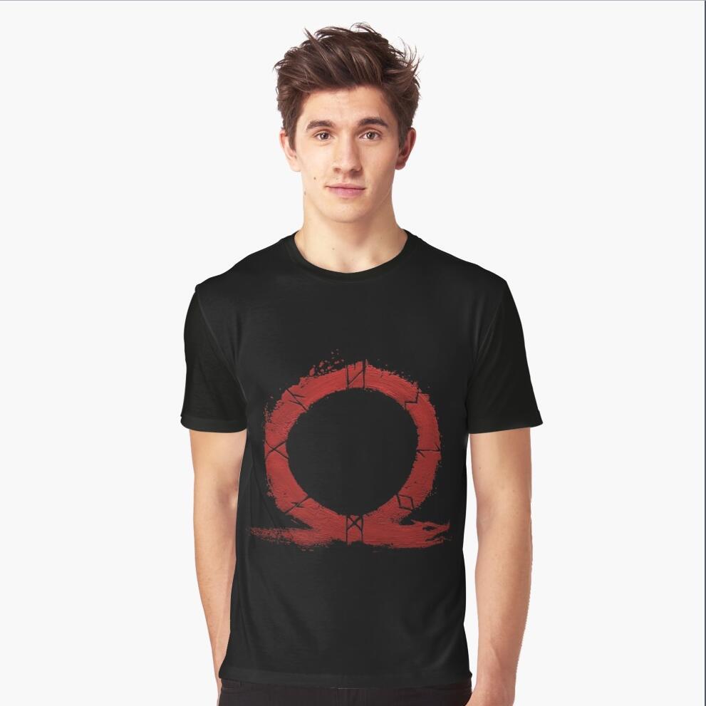 New God Of War T-Shirt Mens Gamers T-shirt Geek Shirt Graphic Shirt God Of War T Shirt Gaming Tee Shirt