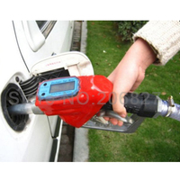 Fuel Gasoline Diesel Petrol Oil Delivery Gun Nozzle Dispenser With Flow Meter
