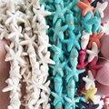 Белые и синие разноцветные бусины из натурального камня в форме морской звезды для изготовления украшений, свободные аксессуары для самост...