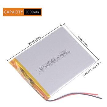 3 провода 5000 мАч литий-ионный 307090 7,8,9 дюймов планшетный ПК ICOO bateria 3,7 в полимерный литиевый аккумулятор АКБ навигатор