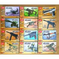 4D Plastic Assembled Gun Model Cross Fire Military Model Intellectual enlightenment Toy For Boys 12 PCS/set