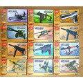 Plástico 4D ensamblado modelo de pistola 1:5 escala Cross Fire militar modelo ilustración intelectual juguete para niños 12 unids/set