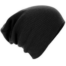 2015 Winter hat Unisex Stripe Warm Winter Knit Skullies and Beanies for Women Men Skull Cap Hat Slouchy Beanie