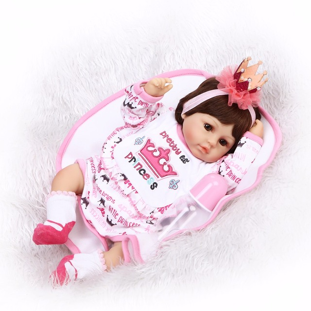 Silicone Reborn Babies Dolls For Girls Vinyl Realistic Doll 5
