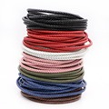 5meters/lot  6mm Round Genuine Braided Leather Cord Fit  Bracelets Necklace and DIY jewelry accessories  F0400A