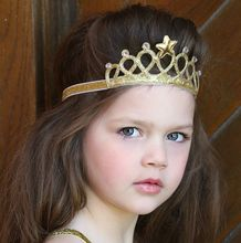 New Spring and Summer Children Girls Hair Accessories Baby Hair Band Gold and silver Baby Crown