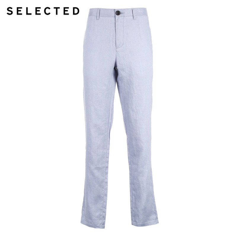 4182w2503 Lavado Lino Largos electric Ocio Color De sand Blue Pantalones S Seleccionado Negocios White Blue Puro dirty wg8EvEnpq