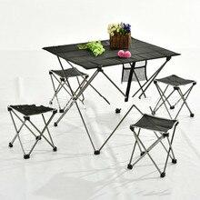 Принадлежности для шашлыков семья алюминий сплав портативная, складная для улицы стол, уличная мебель стол пикника Кемпинг LM12241128