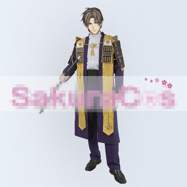 New Clothing Made Anime Touken Ranbu Online Heshikirihasebe Halloween Christmas Uniform Cosplay Costumes Coat+Shirt+Pants+Blet