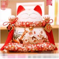 Hot Selling Newest Golden Lucky Cat Ornaments Opened Electric Swing Shop Gift Rich Cat Oversized Ceramic Piggy Bank