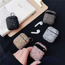 Buy For Airpods Cover Apple Wireless Bluetooth Headset Charging Cover Protective Cover Crystal glass decoration Airpods Pack directly from merchant!