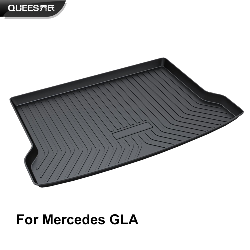 QUEES Custom Fit Cargo Liner Boot Tray Trunk Floor Mat for Mercedes Benz GLA Class 2014