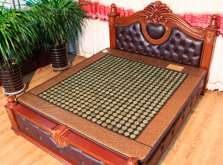 Natural Jade Bed Cushion Electric Heating Far Infrared Physiotherapy Pad 3 Size for You Choice 2016 hot sale jade bed mattress single double heating thermostat jade health mattress pad physiotherapy 3 size for you choice