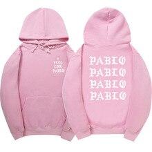 Чувствовать себя, как Паулу балахон Канье Уэст Для мужчин/Для женщин толстовка Для мужчин розовый скейтборды толстовка мужская хлопковая жизнь пабло одежда
