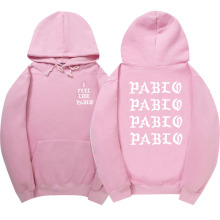 Feel Like Paulo Hoodie Kanye West Men/Women Sweatshirt Hoodie Men Pink Skateboards Hoodie Male Cotton The Life Of Pablo clothing
