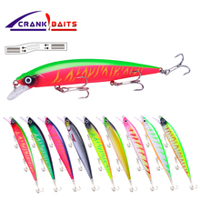 CRANK BAITS Minnow Wobbler Suspend Jerkbait Fishing Lure 14cm 18.6g Plastic Minnow Bass Pike Artificial Hard Bait Tackle YB521 diving distant baits big bait pike bait wobbler fishing tackle insect bait fake black hard baits bass beaded nightlight baits