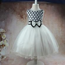 baby girl summer clothes Flower Sleeveless Sequins girl princess dress Wedding presiding Stage performance tutu dress