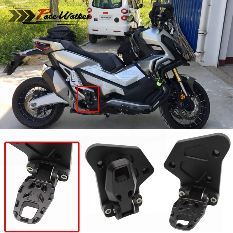 Free Shipping Motorcycle Accessories Aluminum Folding Rear Pedal Bicycle Passengers For Honda X-ADV XADV X ADV 2017