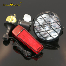JS Dynamo bike Lights Rear Front Light Safety Warning Electric dynamo Generator Headlight Rear Lamp Set LED Dynamo Flashlight
