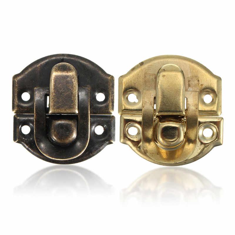 Bronze or bijoux coffre boîte valise coffre boucles bascule moraillon loquet attraper fermoir 27X29MM