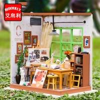 아뜰리에 나무 미니어처 DIY 인형 집 장난감 조립 키트 3D 미니어처 인형 집 장난감