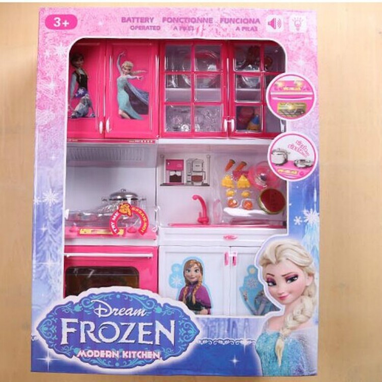 New Luminous Anna Elsa Ings Arrival Child Clic Kitchen Set Toys Vegetable Cook Fun Play House Toy Kids Gift In From