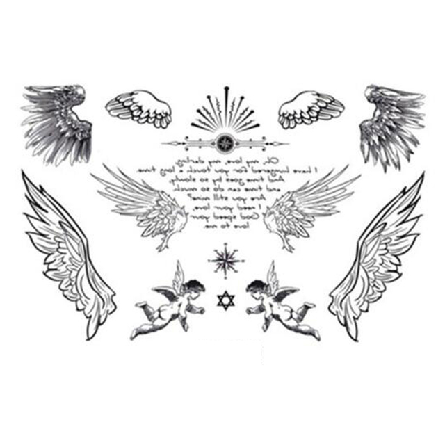 Yeeech Tymczasowe Tatuaże Naklejki Dla Kobiet Fałszywe Małe Skrzydła