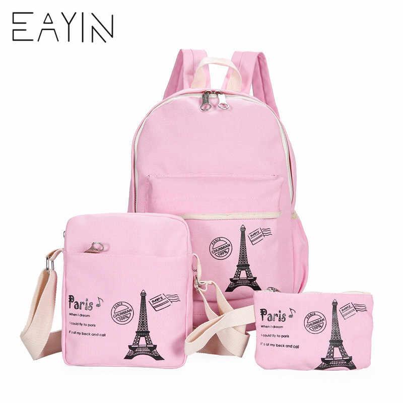 3 шт./компл. женские рюкзаки, сумки, Набор Kawaii, Холщовая Сумка для книг, мягкие рюкзаки, школьная сумка для девочек-подростков, женская сумка Mochila
