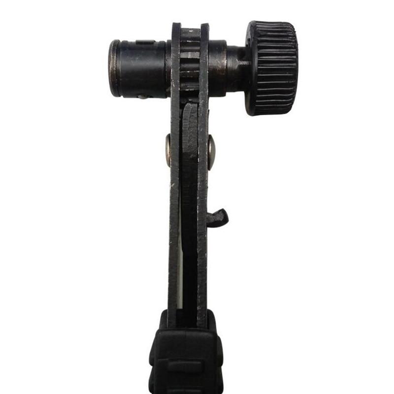 Купить с кэшбэком Flexsteel 1/4 Drive Mini Size Ratcheting Right Angle Screwdriver Quarter Pole Socket Spanner Wrench Rods 6.35mm