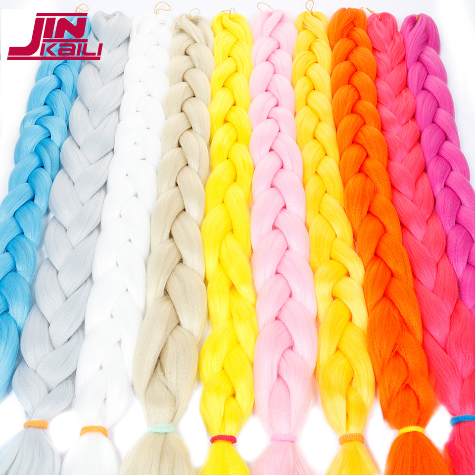 Obliging Jinkaili Synthetic Braiding Hair Kanekalon 82 Inch 165g/pcs Jumbo Braid Bulk African Hair Crochet Hair Extensions Jumbo Braids
