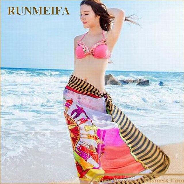 7d8a1bb062f  RUNMEIFA  Women Bikini Beach Swimsuit Cover Ups Dress Beachwear Dress Sexy  Pareo Sarong free
