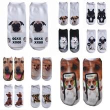 3D носки в стиле харакдзюку Мужские Женские носки повседневные Носки с рисунком собаки нейтральные низкие носки с принтом