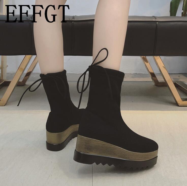 564d73a6 Alta Aumento Transpirable Grueso Botas Calcetines Colegio De Viento Mujer  Ayuda Negro Elástico Muffin 2019 Z239 Martin Effgt Zapatos Ocio Fondo  pZqAvwx6F