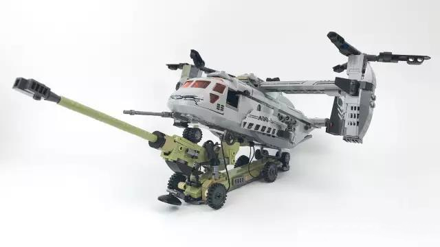 640pcs Helicopter Artillery Special Forces Military Building Blocks Kits Army Soldiers DIY Model Figures Bricks Toys for Kids new model 340pcs military helicopter special forces war building blocks set army soldiers figures bricks toy for lepins children