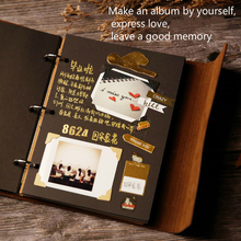 Vintage Leather Diy Picture Album Pocket Polaroid Photo Sticker Holder Baby Book Memories Creative Birthday Party Girl's Gift