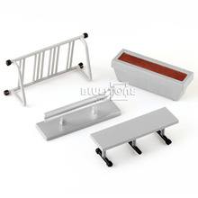 4Pcs Skate Park Ramp Parts SET Fingerboard Finger Board Scooter Toy Boy Kid Gift