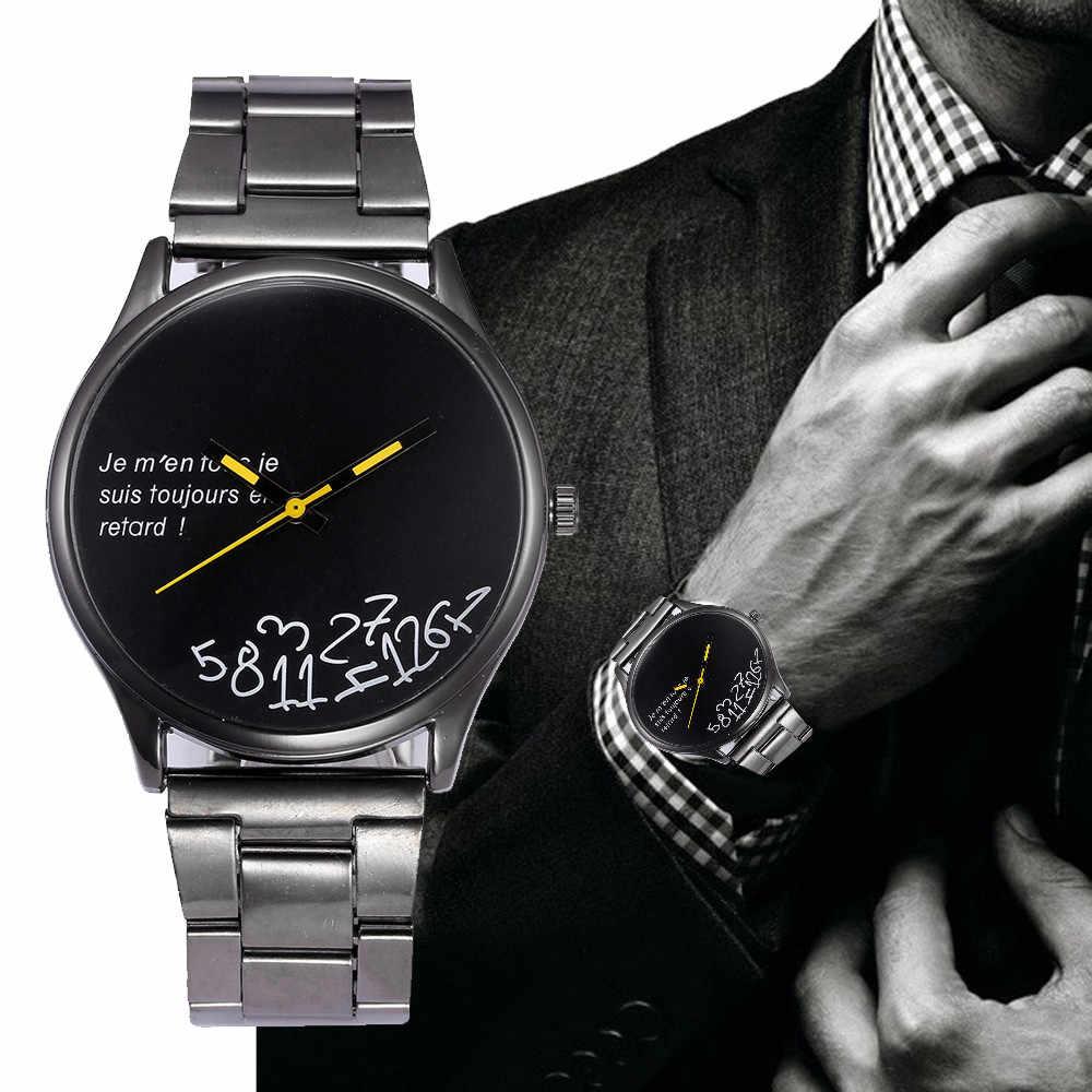 Relojes De pulsera analógicos De cuarzo De acero inoxidable De cristal para hombre