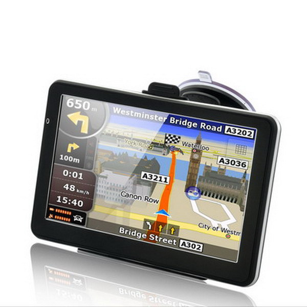 7 INCH HD CAR font b GPS b font NAVIGATION CPU MTK 800MHZ 128M 4GB FM