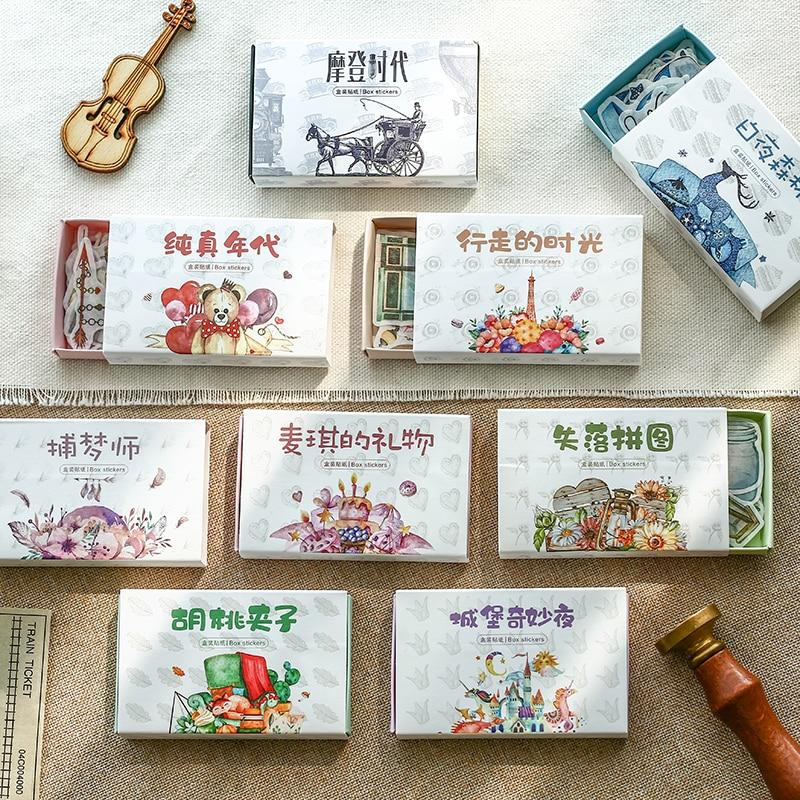 40pcs/pack Fantastic Castle Forest Diy Decorative Stickers Scrapbooking Diary Album Decor Stick Label Paper Product Stationery