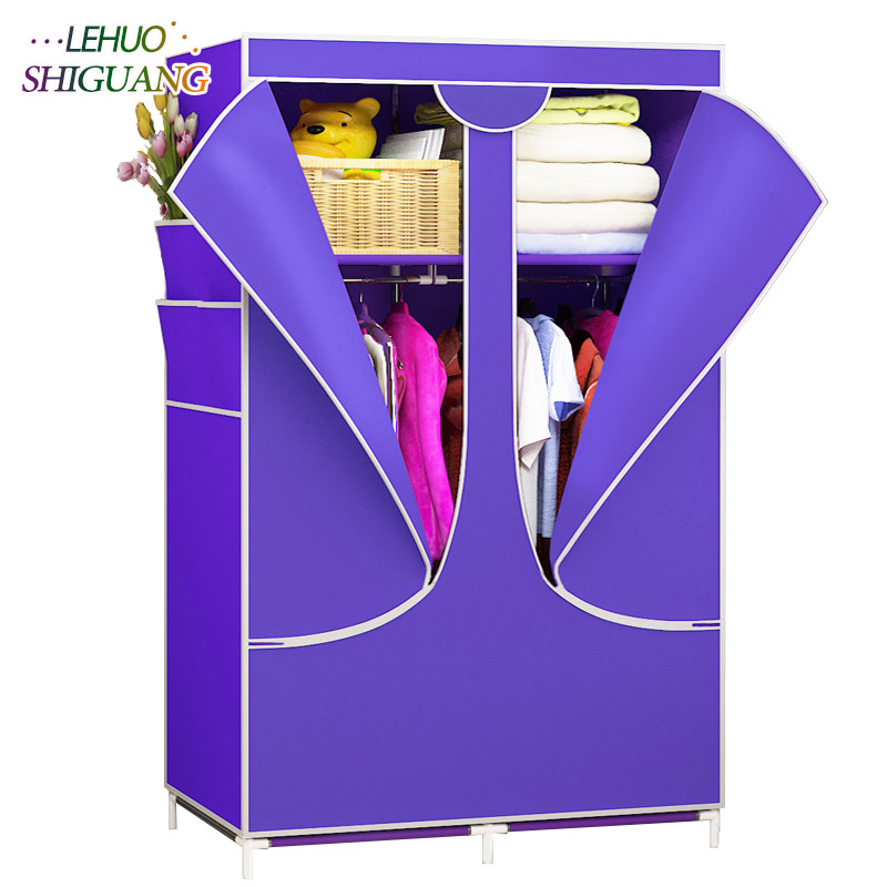 New Wardrobe zipper Non-woven Fabric Steel frame reinforcement Standing Storage Organizer Detachable Clothing Closet furniture simple fashion moistureproof sealing thick oxford fabric cloth wardrobe rustproof steel pipe closet 133d