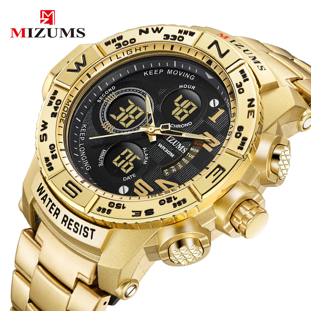 Men Sports Watches Men's Quartz LED Digital Clock Waterproof Military Wrist Watch
